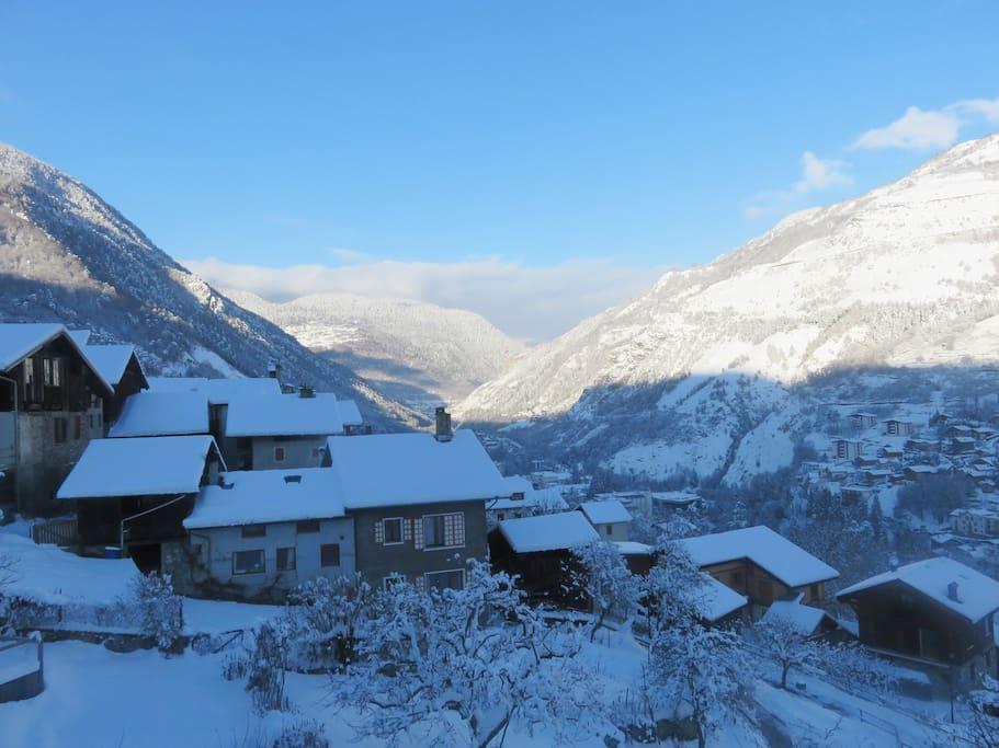 vue du village depuis le balcon