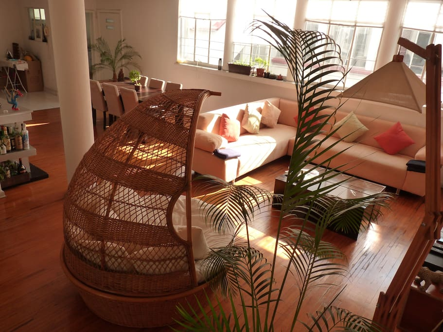 Bright and spacious common area
