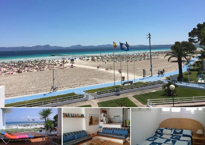 Apto. en 1er linea de la playa - Alcúdia - Apartamento