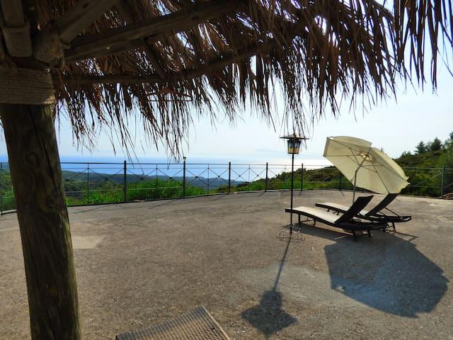 Studio with beautiful panoramic view to the sea