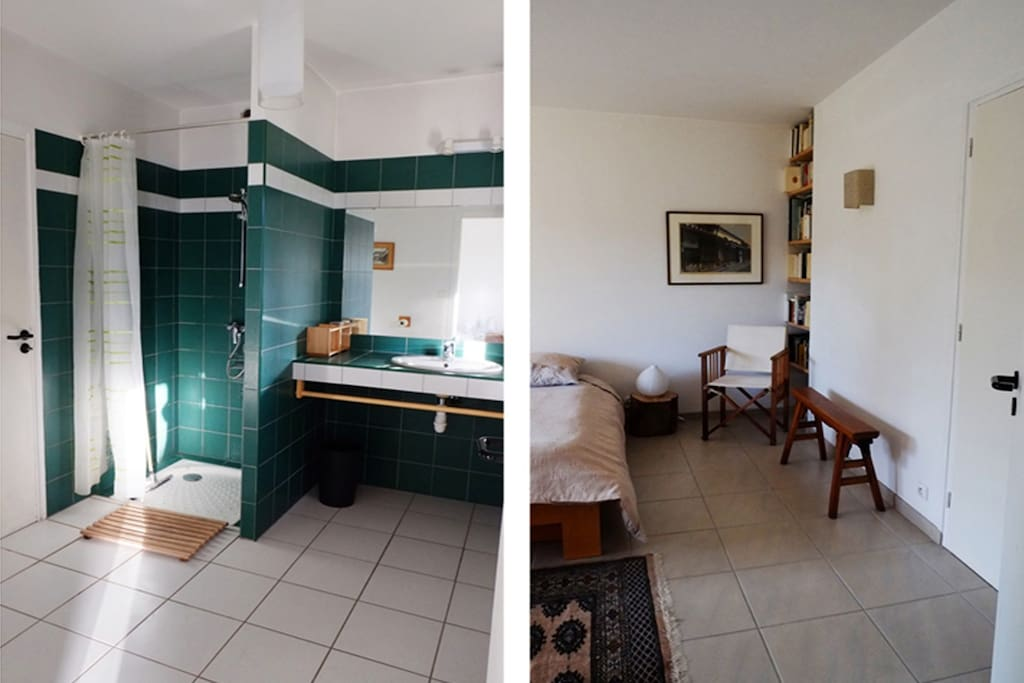 En suite shower room of downstair's bedroom