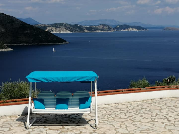 Villa Belle View - Unique Panoramic View of Sivota Bay and Poros Bay