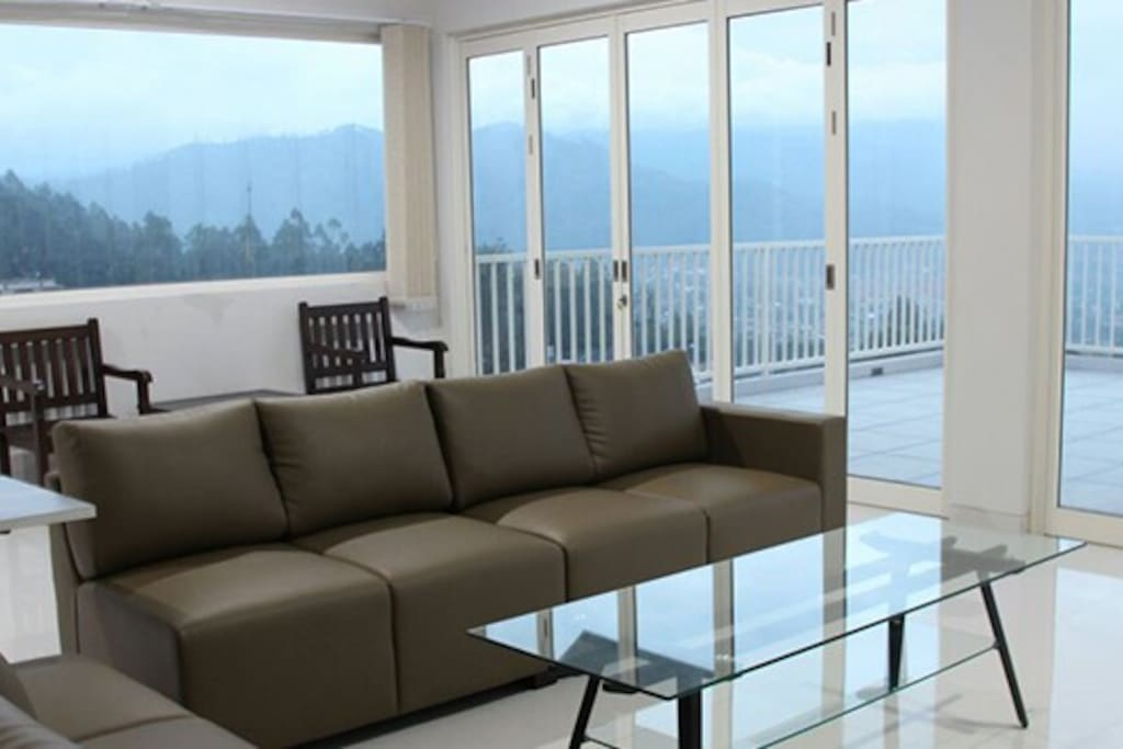 Family Room with mountain view