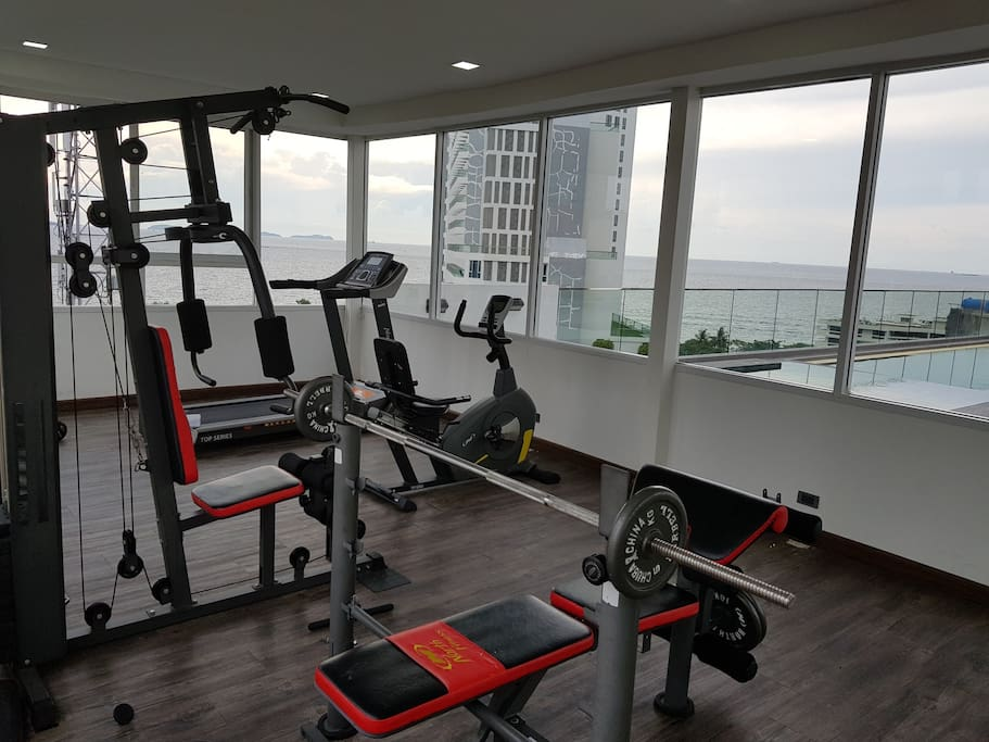 fitness sea view