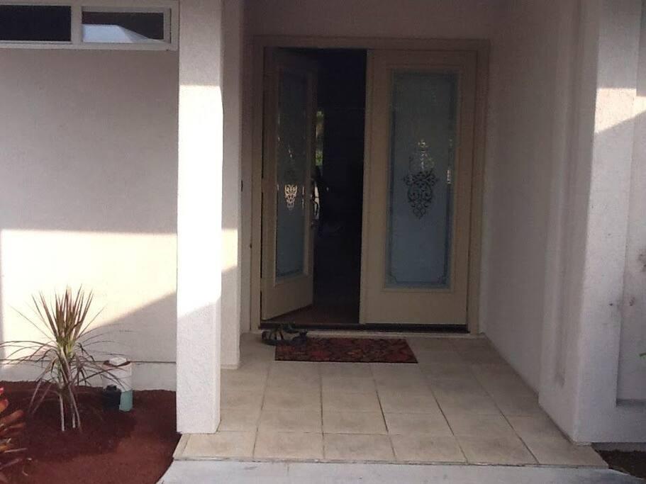 Welcoming double door entry.