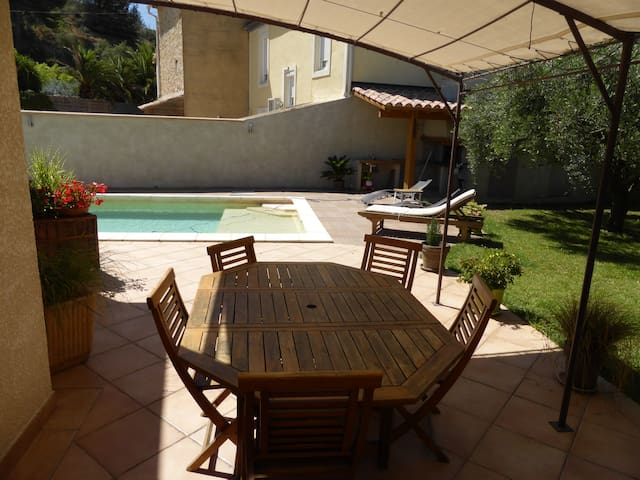 maison de village au calme avec piscine privative. - Bize-Minervois - Dům