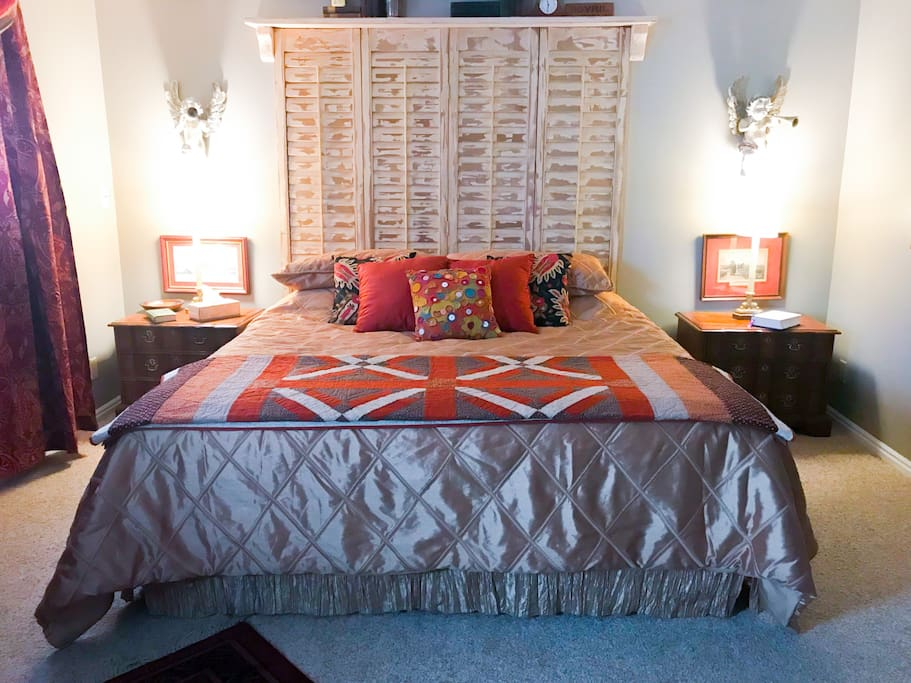 Your bedroom features a King Size bed.