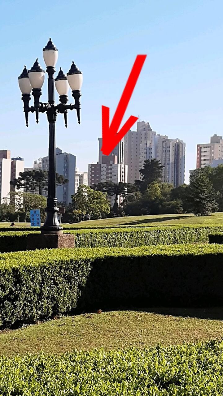 Quarto individual ao lado do Jardim Botânico