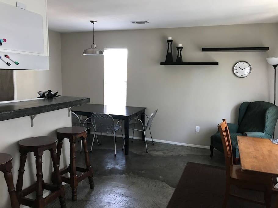 Dining room + kitchen bar top