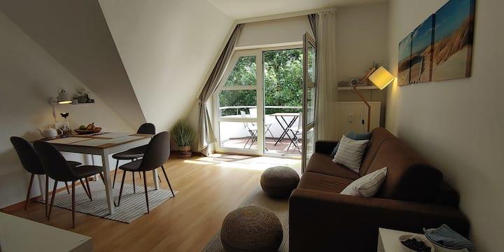 """Gemütliche Ferienwohnung """"Flunder"""" mit Balkon"""