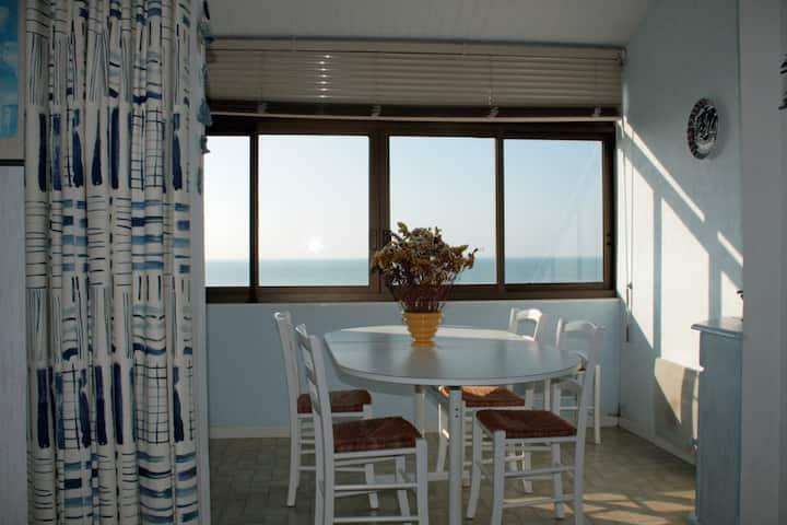 Vue pleine mer, 35 m2, 1 pièces, 2 couchages