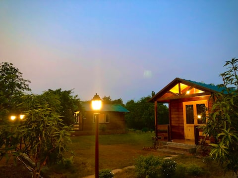 DUO WODDEN COTTAGES  AT JANAI FARMS