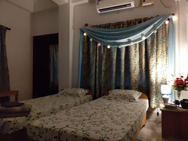 Cozy Corner at the Chaudhurys'