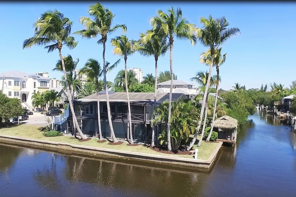 property with dock and 180 degree water views and privacy