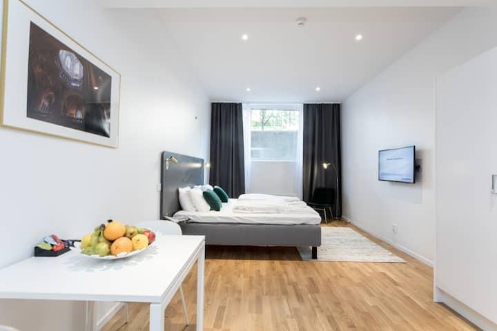 Queen Studio Apartment Basement
