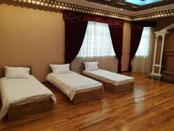 Bed in shared room