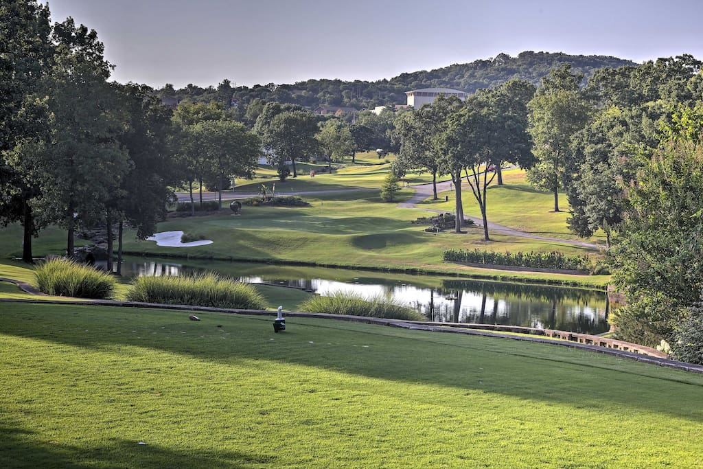As you sip your coffee on the furnished patio, watch the golfers try their luck on Pointe Royale's second hole.