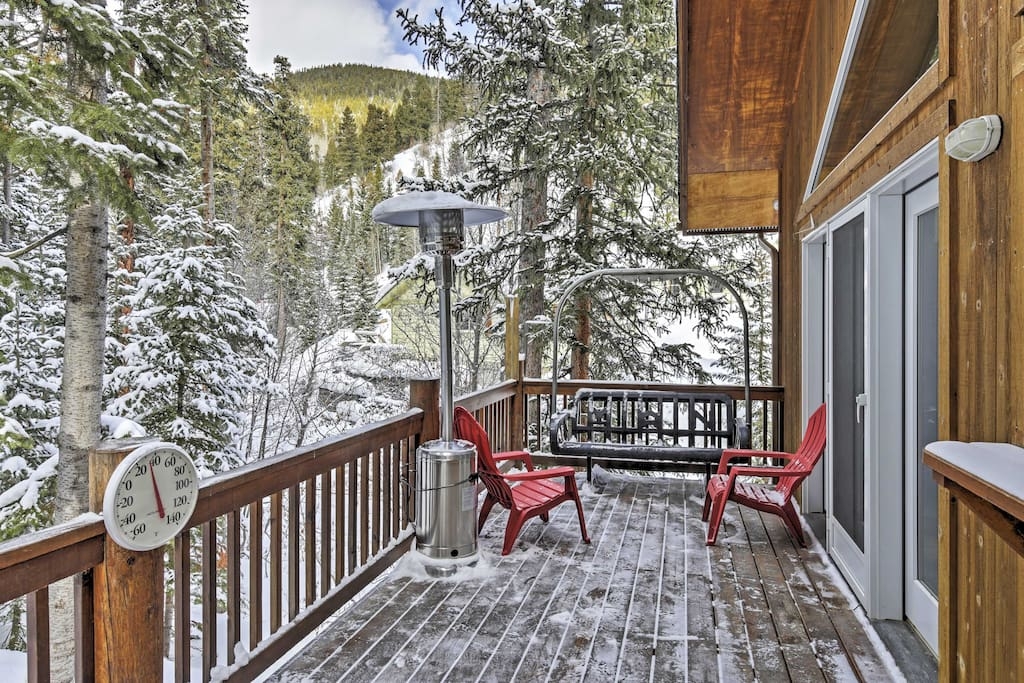 Take in the views from the spacious deck.