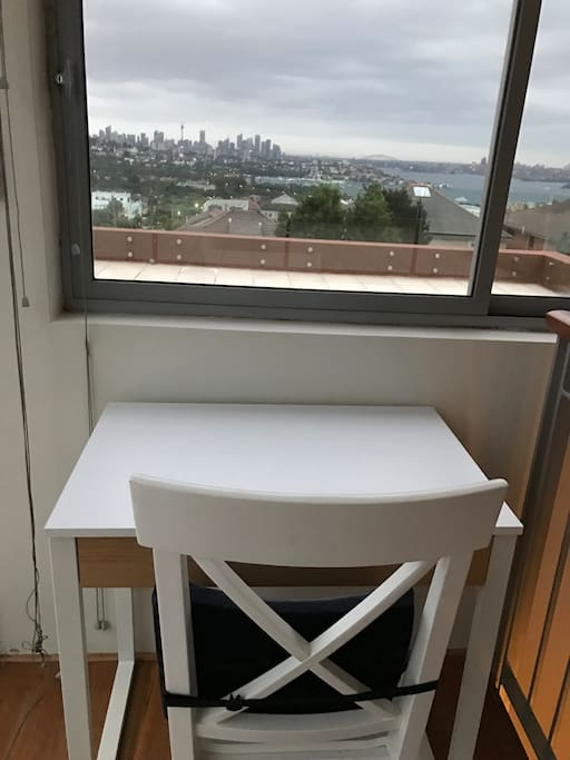 Desk with a view - read or work with Sydney's best view!