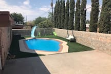 SPARLING POOL WITH SLIDE