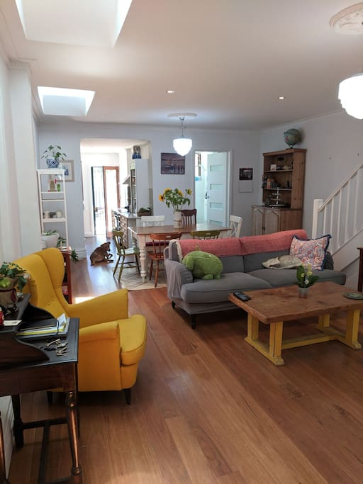 Open Plan Lounge and Dining Through to Kitchen