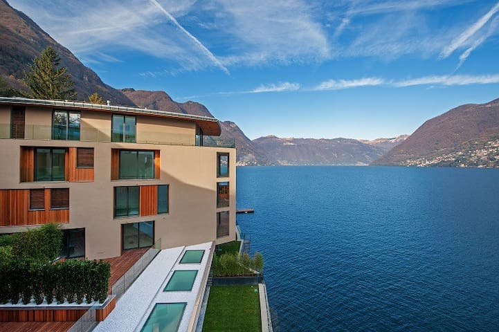 Luxury Apartment in front of Como, Lake Resort U7