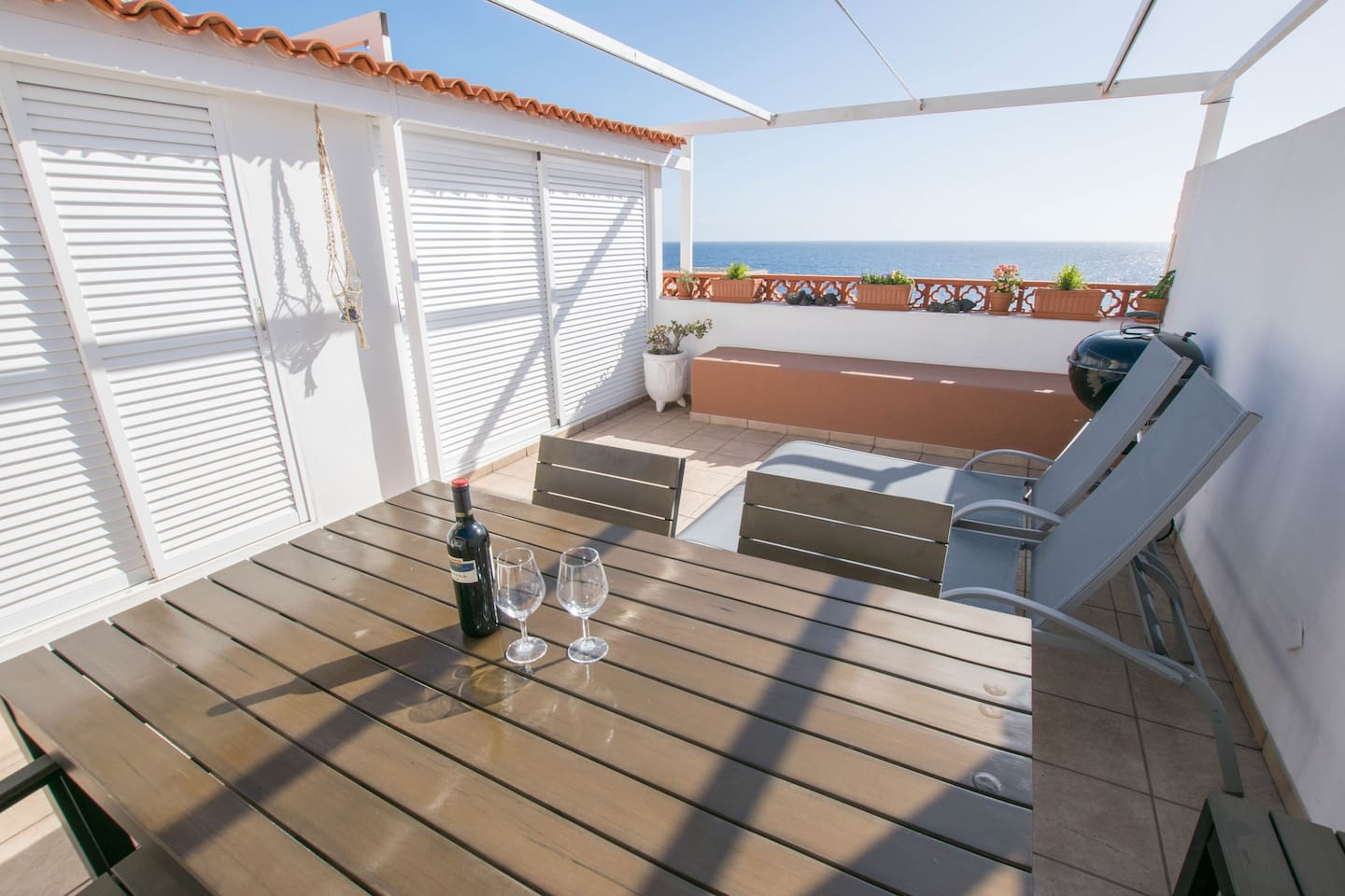 """The apartment is excellent, clean comfortable and stylish. Kitchen well equipped and lots of thoughtful extras. Loved the terrace with sea view , great sun loungers and fab laundry room""."