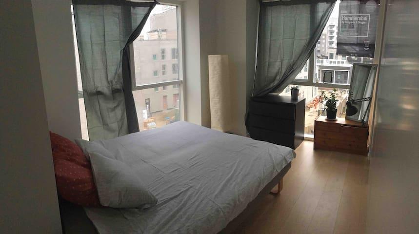 Bright room in a convenient location