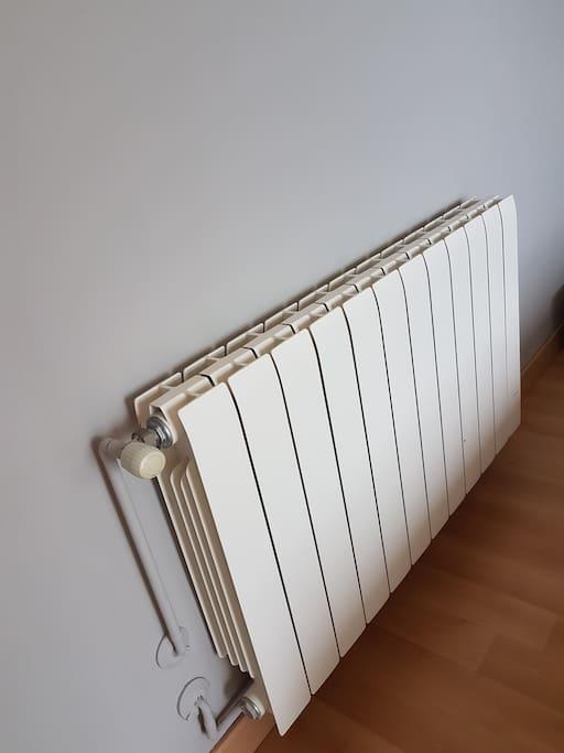 Calefacción en todas las habitaciones