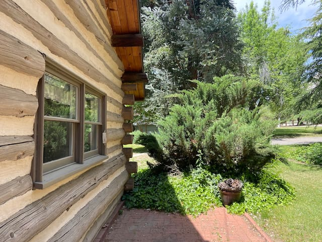 Log Cabin of Kernville Ranch nestled in a meadow