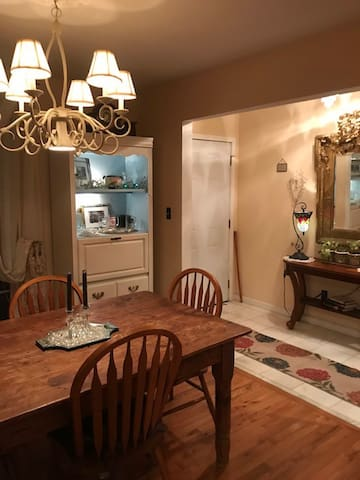 dining room and home entrance