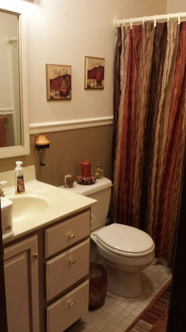 Your very own bathroom with full shower and Tub to relax after a busy day.