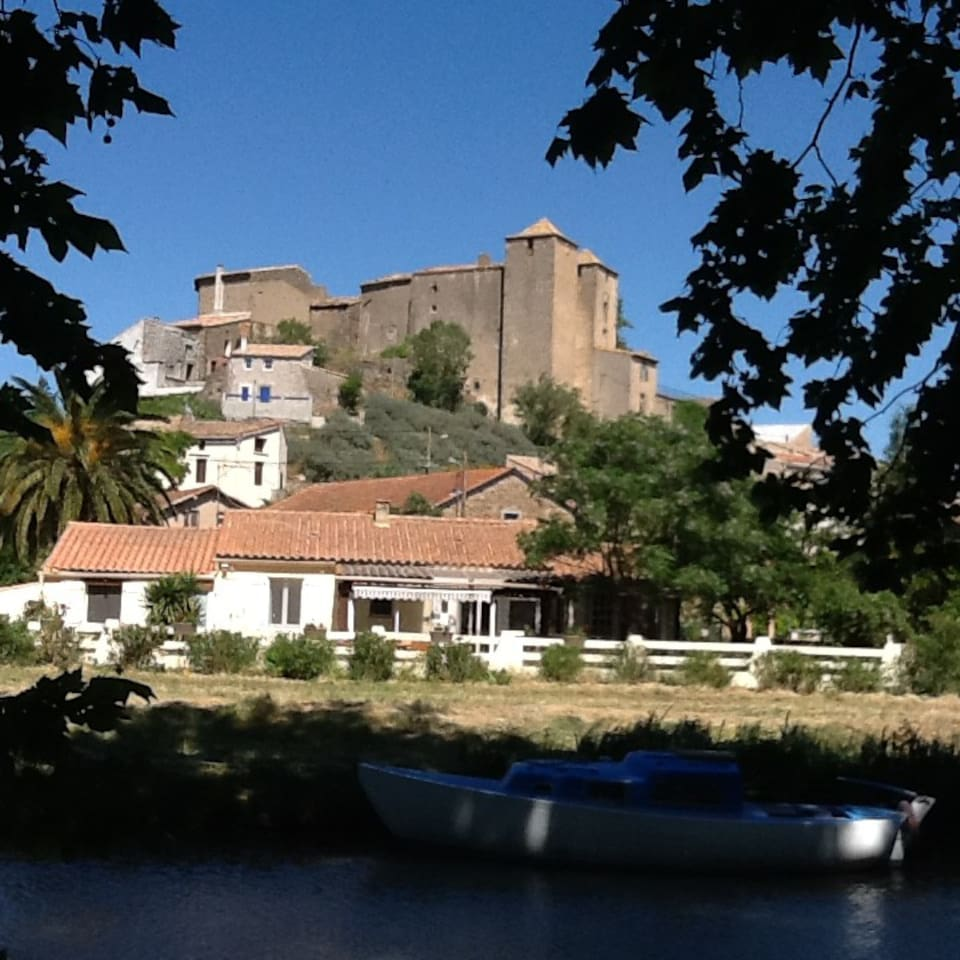 HOME IS DIRECTLY ON THE CANAL DU MIDI IN THE TOWN OF ARGENS MINERVIOUS, PROVENCE FRANCE.