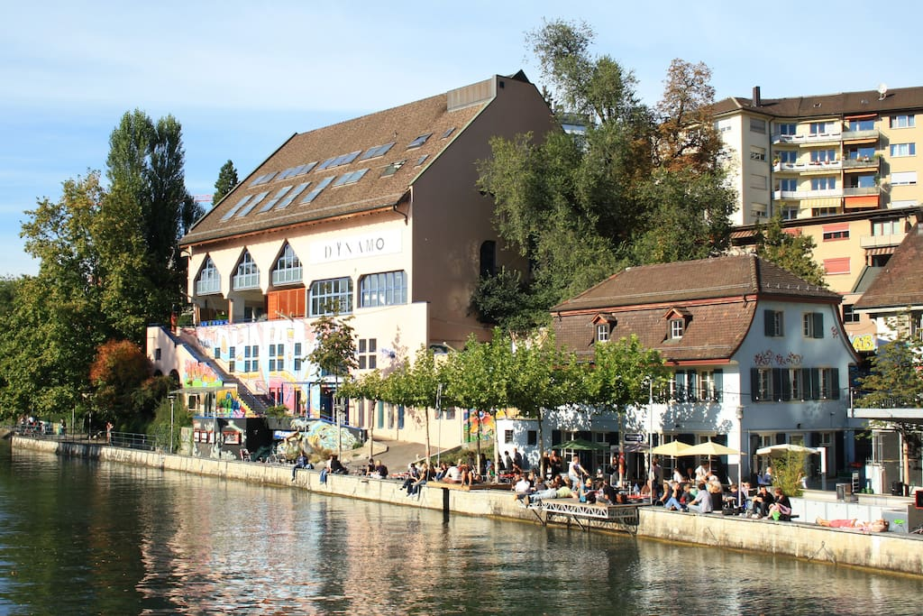 ...and the Limmat, our river to hang out