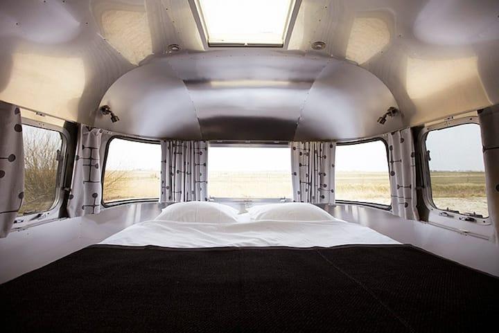 Airstream: comfortabele tweepersoons hotelkamer