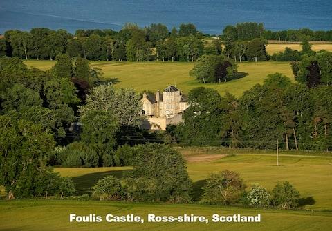 The Courtyard, Foulis Castle, Highland Scotland