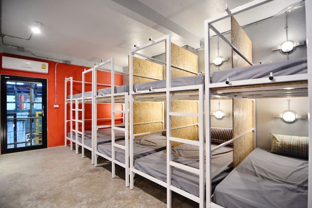 Mixed dorm 10 with an air conditioner, free Wifi, good natural light & ventilation, soft bed lined plus pillow and blanket