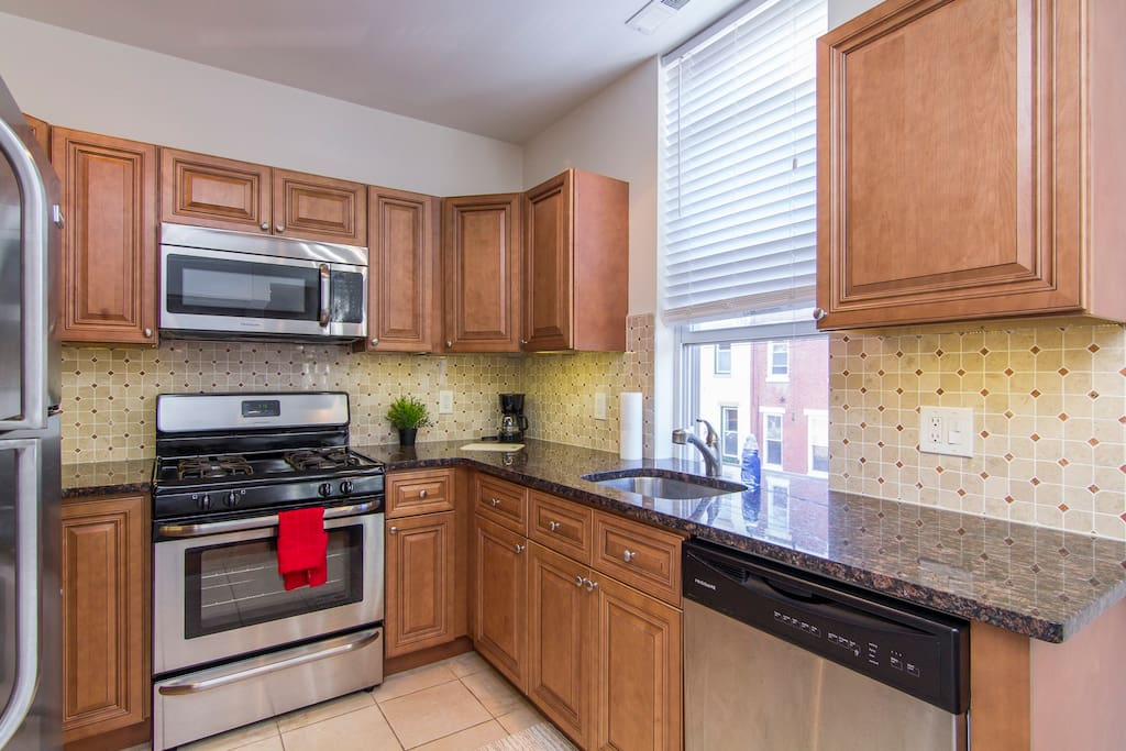 My kitchen has everything you would need to prepare and enjoy a home-cooked meal!