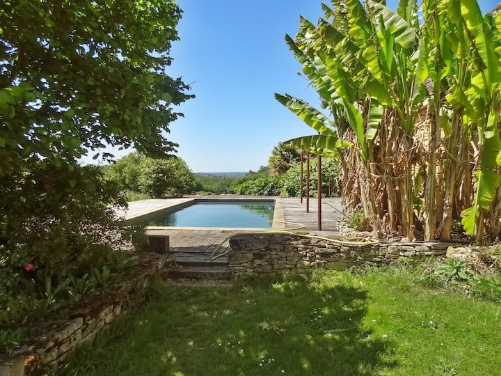 House with 2 bedrooms in Saint Amand de Coly, with shared pool, furnished garden and WiFi