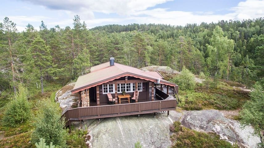 Cozy peaceful mountain cabin with great view - Nissedal - Houten huisje