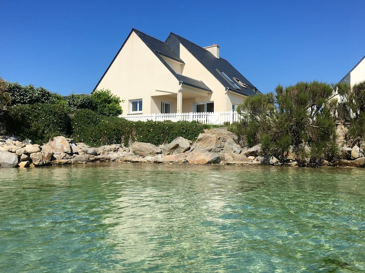 House with 3 bedrooms in Roscoff, with wonderful sea view, furnished garden and WiFi - 50 m from the beach