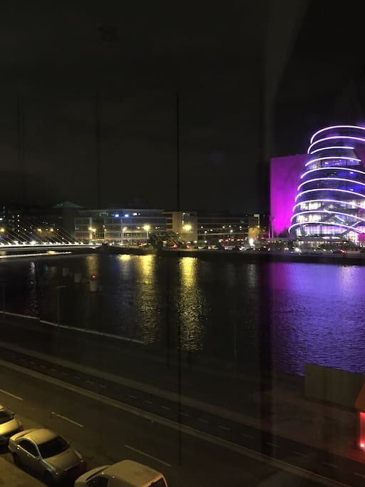 Night time river views / Convention Centre