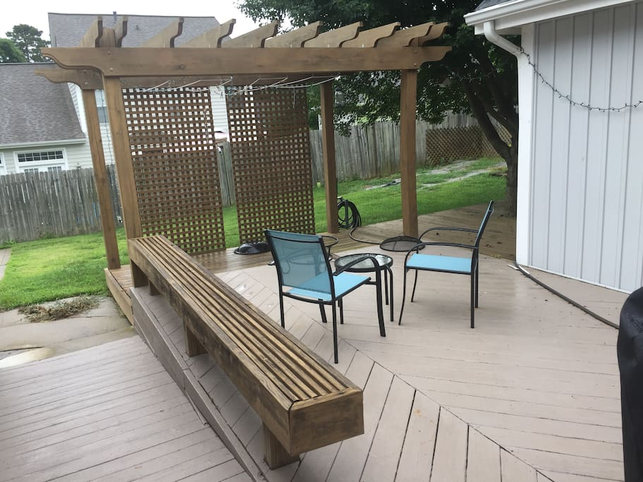 Patio area with pergola