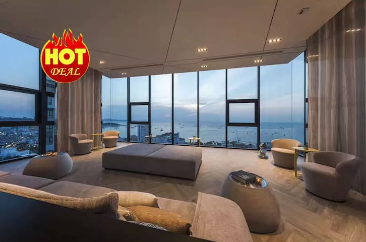 #ALuxury Modern Sea View 1BR in Central Pattaya