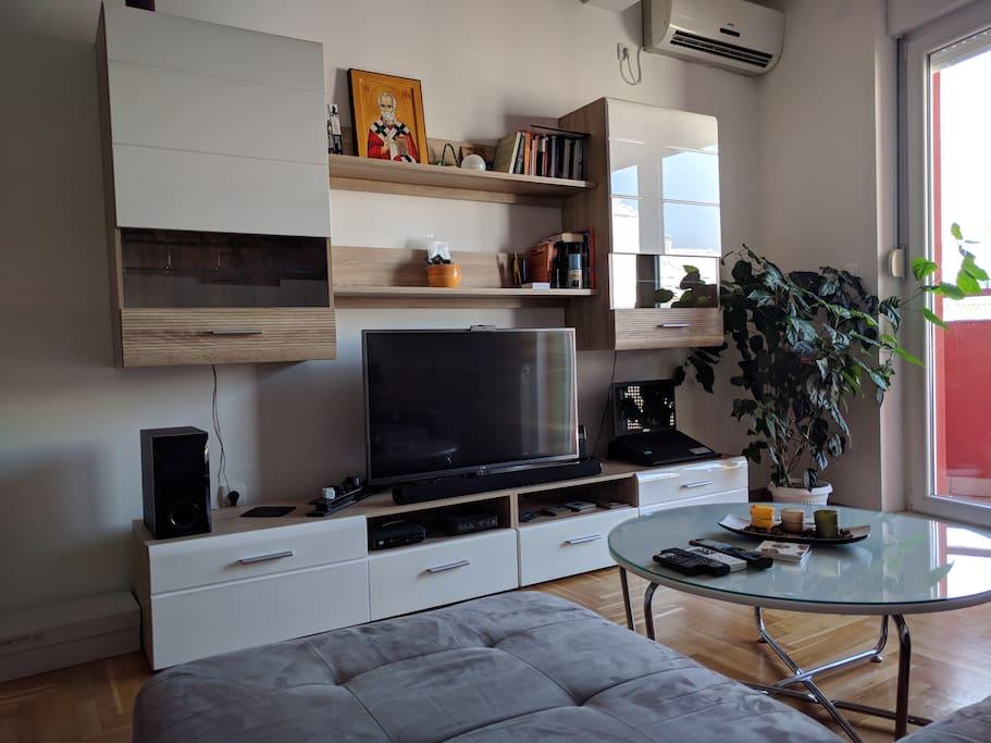 Living room tv set