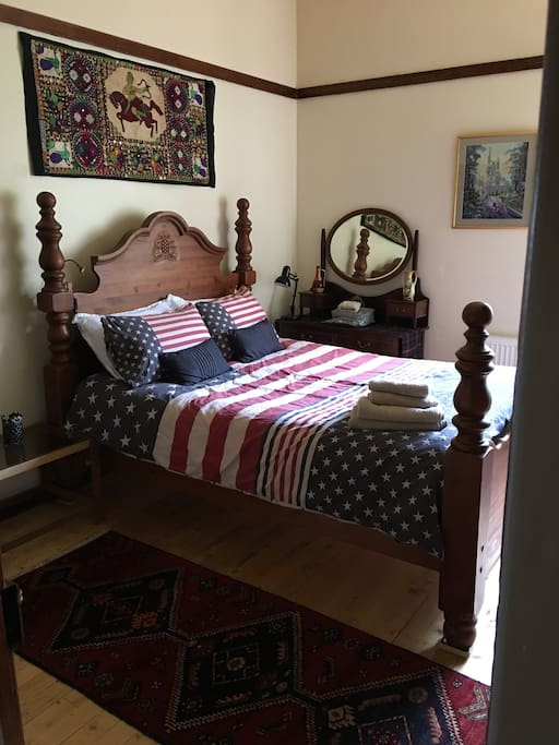 Bedroom 1 with king size bed.