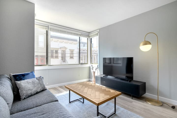 Ideal Castro 1BR w/ W/D, Parking, Shared Pool, nr. Muni, by Blueground