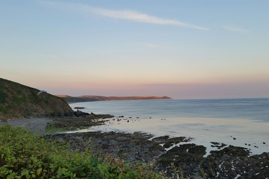 evening view  towards Rame head