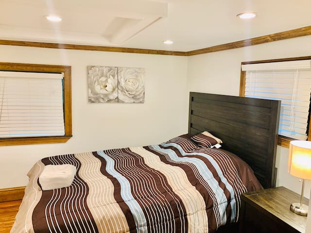 Master Bedroom With a Private Bathroom