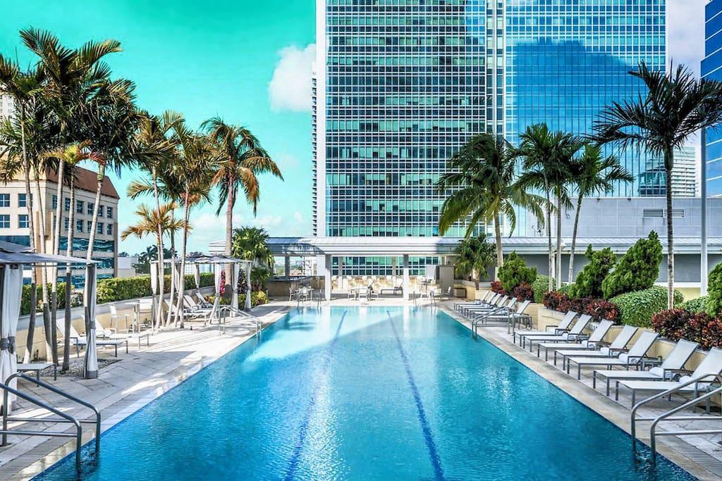 Amazing Rooftop Pool @ Conrad Miami